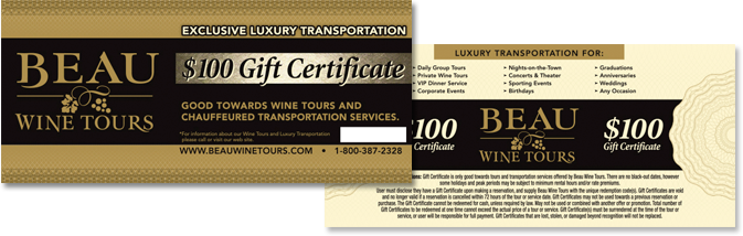 bwt gift certificates