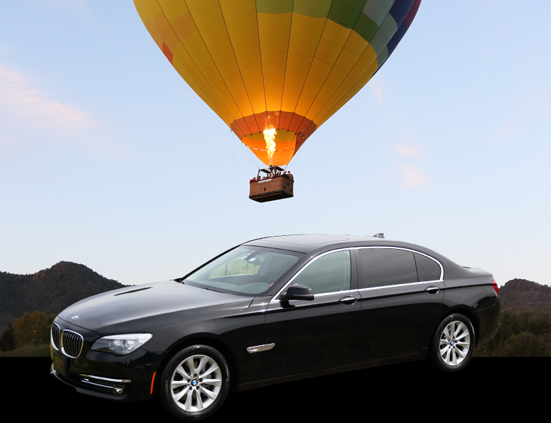 sedan balloon ride wine tour package