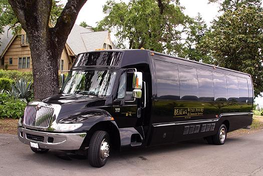 sonoma wine tour luxury shuttle service