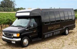 beau wine tours shuttle