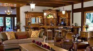 burnish mahogany wine bar harvest inn