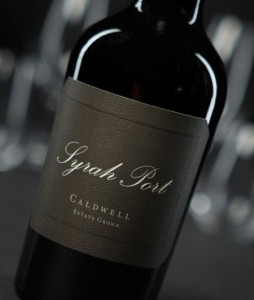Caldwell Estate Grown Syrah Port