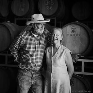 Jim Sullivan and Jo Anna Sullivan at Sullivan Vineyards