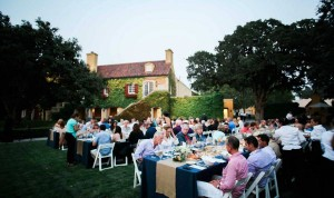a beautiful dinner at jordan winery