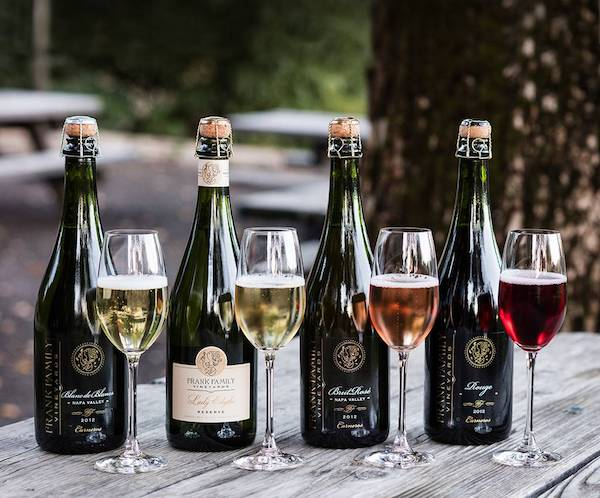 Sparkling wines in Calistoga wineries